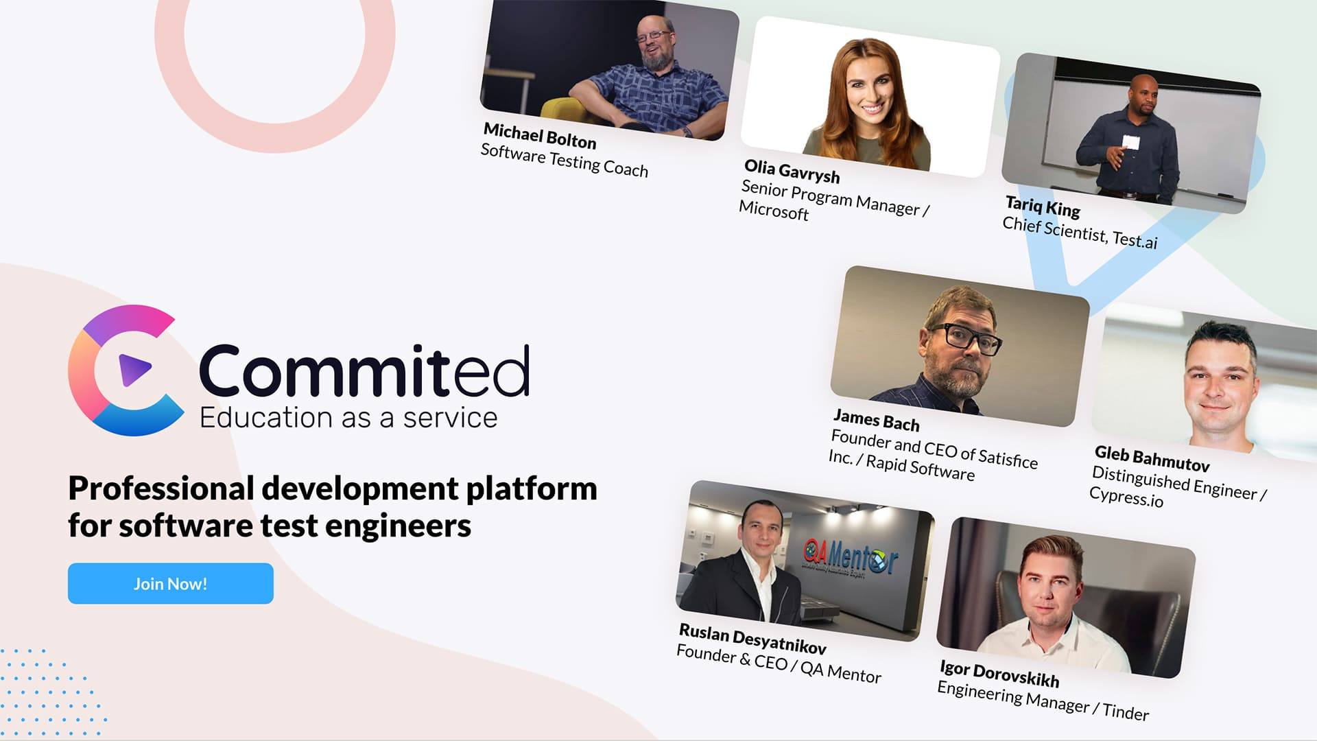 Commited – education-as-a-service platform for test engineers